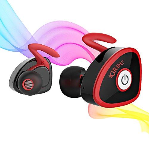 Ecouteur Stereo Sans Fil avec Microphone Oreillette Bluetooth V4 .1 Une Paire, Multipoint Compatible avec le Plupart Appareil Bluetooth