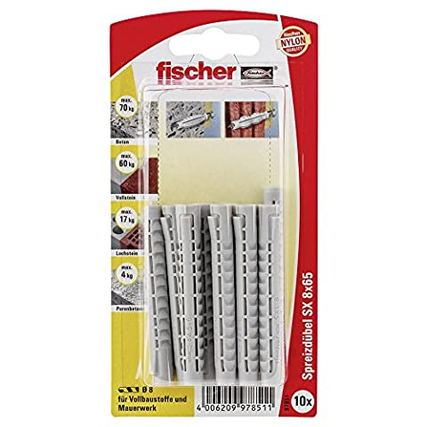 Fischer Dübel 97851 SX 8 x 65 K SB-Karte