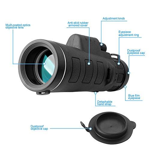 Kimfoxes Monokulare 35×50 Teleskop hohe Leistung Teleskop Zoom Outdoor Wasserdicht tragbaren Hochleistungs Weitwinkel-Objektiv für die Jagd Camping Wandern - 3