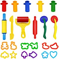 Dough Tools, WonderforU Set of 23 Pcs Smart Dough Tools Kit with Extruders - Random Colors