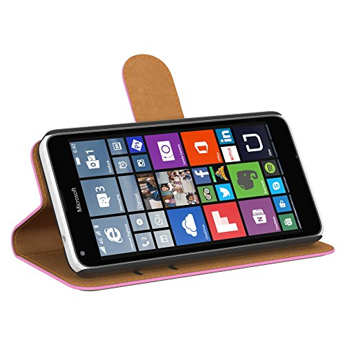 Ultra Slim Cover für Nokia Lumia 650 Schutz Hülle TPU Case Schutzhülle Silikon Tasche Dünn Transparent Rosa (Book)