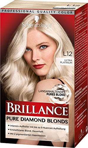 Brillance Intensiv-Color-Creme L12 Ultra Platinum Stufe 3, 3er Pack (3 x 165 ml)