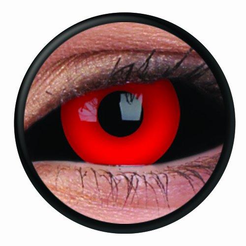 1 Paar Sclera GREMLIN Kontaktlinsen linsen farbige rot schwarz vampir sklera mit Box dämon halloween kostüme ()