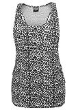 Urban Classics Ladies Leo Loose Tank Top, black/white, XS