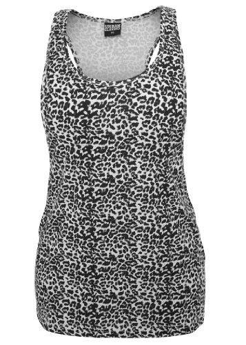Urban Classics Ladies Leo Loose Tank Top, black/white Weiss/Schwarz