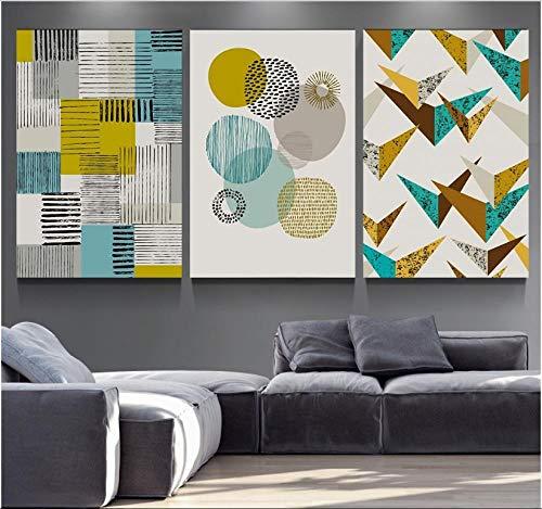 Nordic Simple Geométrico Arte mosaico Pinturas decorativas