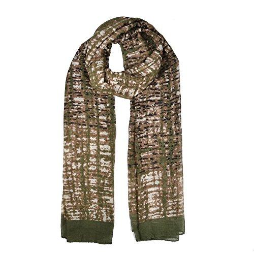 femme-hiver-printemps-automne-fashion-imprime-lumiere-chale-echarpe-mesdames-vert-vert-fonce