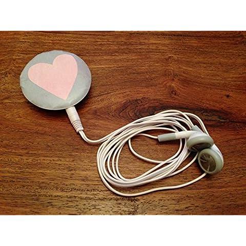 Spilla Lettore MP3, design a cuore rosa
