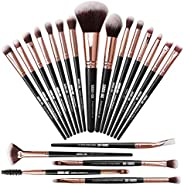 Makeupborstar 20 st sminkborstset professionella sminkborstar premium syntetisk foundationborste resa mjuk bla