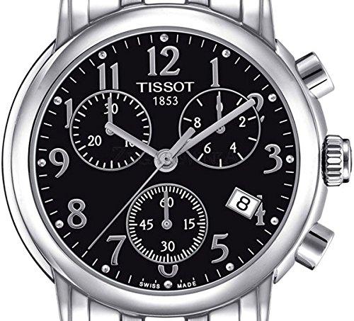 515J6rxx62L - Tissot T050.217.11.052.00 - Reloj para mujeres, correa de acero inoxidable color plateado
