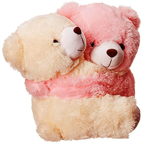 Dimpy Stuff Love Couple Bear Stuff Toy Large size Cream & Pink Color  available at amazon for Rs.799
