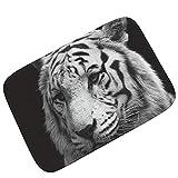 Knbob Badvorleger Anthrazit Tiger Stil 2 Badteppich Nach Maß 60X40Cm