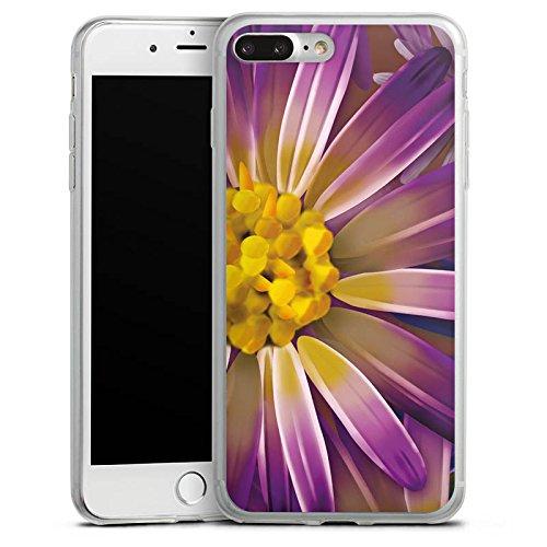 Apple iPhone X Slim Case Silikon Hülle Schutzhülle Lila Blume Blüte Silikon Slim Case transparent