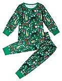 AIDEAONE Ragazzi Ragazze Stampa Natale Cani Pigiama Little Kids Cotton Sleepwear Pjs