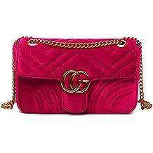 07390476a3f17 2018 neue Damen TaschePU-Leder-UmhängetascheFashion Velvet Cloth Bag Kette  gesteppte Schultertasche Damen Umhängetasche