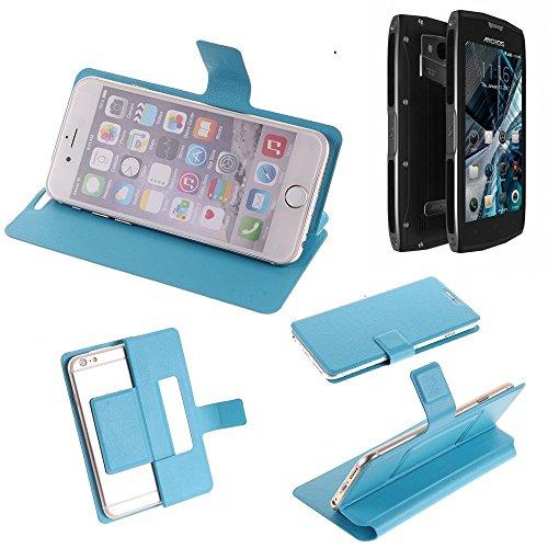 K-S-Trade Flipcover für Archos Sense 50 X Schutz Hülle Schutzhülle Flip Cover Handy case Smartphone Handyhülle blau