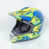 Casque moto cross Torx Marvin 2 Taille XL bleu jaune moto quad cross enduro TT