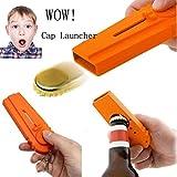Korkenzieher Flaschenöffner Bier Drink Cap Launcher Top Shooter Schlüsselanhänger Geschenk Upxiang Flying Zappa (Orange)