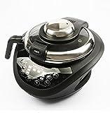 Eléctrico Automático Wok Inteligente Cocina Maceta Antiadherente Multifunción Electromagnético Cocción Claves Inglesas,Black
