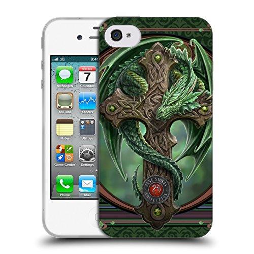 Offizielle Anne Stokes Lava Drachen Soft Gel Hülle für Apple iPhone 5 / 5s / SE Waldhüter