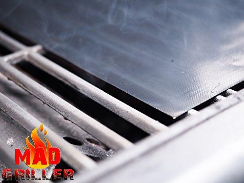 Mad Griller BBQ Grill Matte, Heavy Duty Aluminiumguss, reuseble, PFOA frei, Spülmaschinenfest, Set von 2