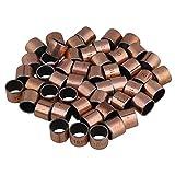 Yibuy 50 Piezas de cojinetes de Cobre para Aceite, 10 mm x 12 mm x 10 mm, rodamiento SF-1