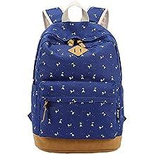 Moollyfox Niña Dulce Linda floral del Estudiante mochila de lona Bolsa para la escuela Casual La bolsa de viajes para los adolescentes
