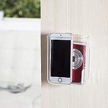 VANCORE mando a distancia soporte caso plástico adhesivo caja de almacenamiento Caja Organizador de medios de comunicación, grande, plástico, Transparente, Small