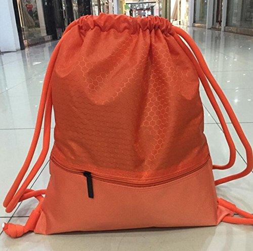 Rucksack Gym Fitnesscenter, gzqes, Handtaschen für Männer Frauen, Fitness Tasche, Rucksack für Klettern, Sport Tasche, 45x 35cm Orange