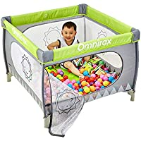 Parc- à bébé Portable Jeu Yard Child Jeu Clôture Pliant Lit Toddler Fence avec des Boules Et des Moustiquaires