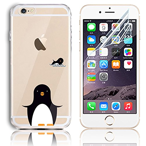 Coque iPhone 6s Plus, Coque iPhone 6 Plus (5.5) Transparent Etui Housse de Protection TPU Silicone Gel Souple Clair Crystal Case Cover Sunroyal® Ultra Mince Premium Telephone Portable Skin Hybrid Clea Motif 23