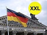 XXXL 450 x 190 cm Deutschlandfahne mit Adler Fanartikel Deutschlandflagge