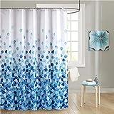 DJFKWYSTL Anti-Schimmel Duschvorhang - Anti-Bakteriell, waschbar, wasserdicht, Polyester, Polyester Badewanne Vorhang,Blue,240x200cm