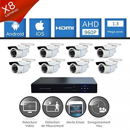 Kit-videovigilancia-8-Cmaras-tubos-Full-AHD-Sony-960p-13-mp--4000-GB-8-Cable-de-40-M-pantalla-22