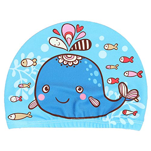 RuiruiNIE Niños Gorro de natación para bebés Dibujos Animados Lindos Estampados de Animales Protectores...