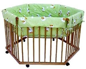 parc r glable en hauteur hexagonal motif canards vert. Black Bedroom Furniture Sets. Home Design Ideas