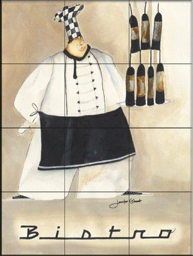 Fliesenwandbildbilder - Bistro Chef I - von Jennifer Garant - Küche Aufkantung/Bad Dusche Jennifer Bistro