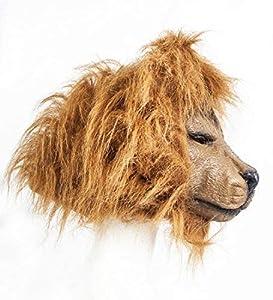 The Rubber Plantation TM 619219293716 - Máscara de león (látex, jungla, safari), diseño de animales de Halloween, cabeza completa, vestido de piel sintética, adulto unisex, talla única