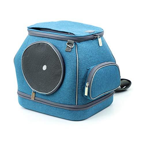 Aida Bz PET Single Shoulder Portable Warm Cat Bag Car Cat Cage Dog Out Carrying Bag Cat Litter Pet Supplies,Blue -