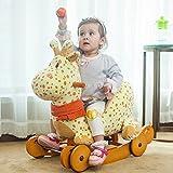 Labebe Schaukeltier Giraffe mit Rädern - 3