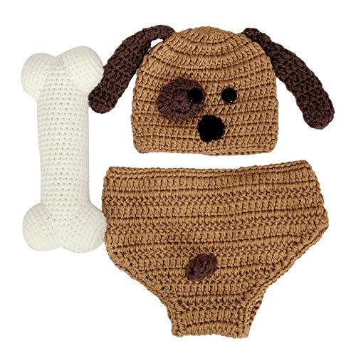 fie Requisiten Outfit mit Hunden Mustern, Perfekt für Unvergessliche Fotoshootings aus Baumwolle 100 Handgefertigt, ()