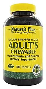 Nature's Plus - masticabili multi-vitamine & minerali naturali ananas sapore adulto - 180 compresse masticabili