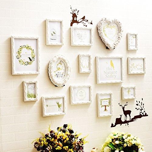 Cadres photo Mur de Photo Mur de Photo de Bois Solide européen Mur de Photo de Chambre à Coucher de Salon Moderne Mur de Combinaison de Cadre de Photo de Chambre d'enfants