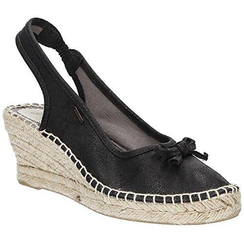 Big Star Damen Sommer Espadrille | Wedge Sandalen Mode Plateau Keilabsatz Schuhe mit Schleife | Schwarz | EUR 37 Big Star Schuhe