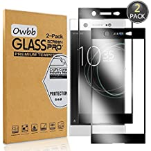 [2 Pack] Owbb Tempered Glass Screen Protector For Sony Xperia XA1 Ultra Black Full Coverage Film 99% Hardness High Transparent Explosion-proof