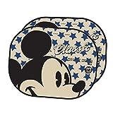 Par parasol plegable la ventana lateral del coche Sombrilla automático estática Cling Protector para sol uso fácil,Disney Mickey Mouse