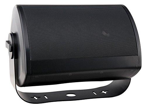 """Pronomic OLS-10 BK DJ PA Outdoor-Lautsprecher für Garten, Terrasse, Restaurant (100 Watt, Schutzart IP56, 8 Ohm, 5,25"""" Woofer, Planar Bass Radiator) schwarz"""