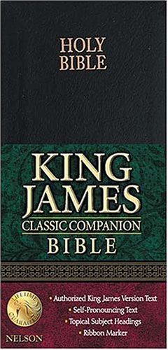 Holy Bible: King James Version Black Bonded Leather Classic Companion Bible