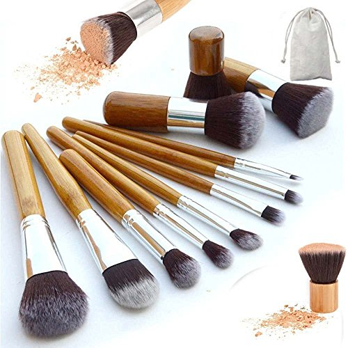 Imurz kosmetikpinsel 11 Stück Dermacol Make Up Pinsel Set Kabuki Pinsel Puderpinsel Rougepinsel...
