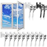 Fenstergriffe abschließbar 10x aus Aluminium weiß inkl. Schlüssel - Fenstersicherheitsgriff abschließbarer Fenstergriff Kindersicherung - Farbauswahl/Mengenauswahl 【Gleiche Schlüssel】